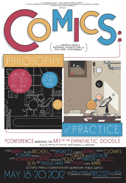 Comics: Philosophy and Practice, poster by Chris Ware