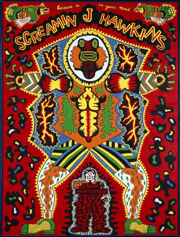 Screamin' Jay Hawkins, as envisioned by Karl Wirsum (1968)
